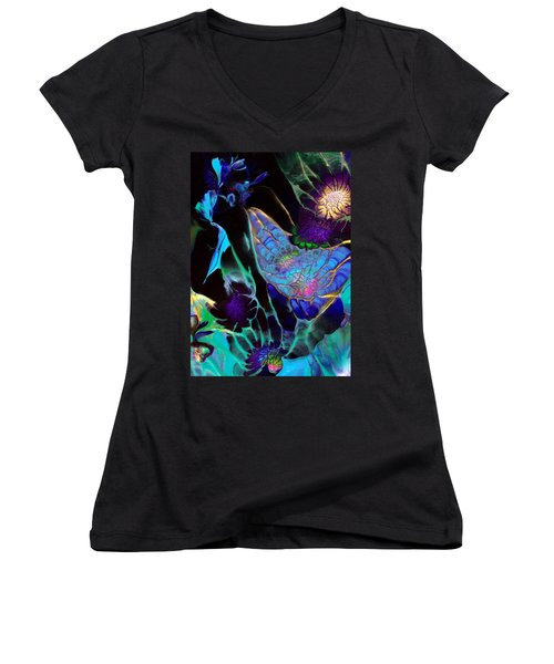 Webbed Galaxy Women's V-Neck (Athletic Fit)
