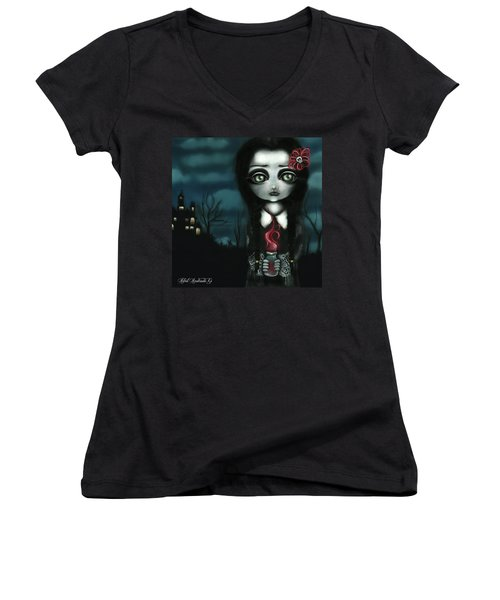 Wednesday  Women's V-Neck T-Shirt