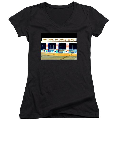 Welcome To Jones Beach Women's V-Neck T-Shirt