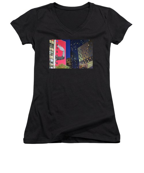 Welcome To New York Women's V-Neck (Athletic Fit)