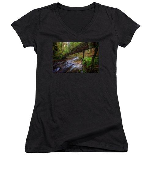 West Humbug Creek Women's V-Neck T-Shirt