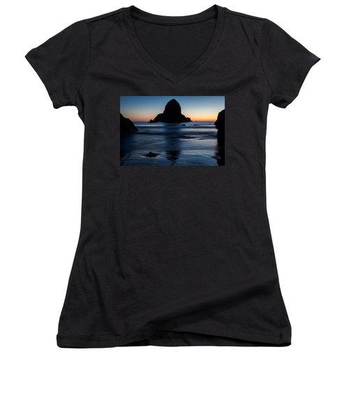 Whaleshead Beach Sunset Women's V-Neck