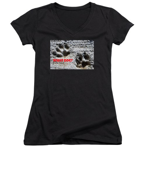 What Dog Women's V-Neck (Athletic Fit)