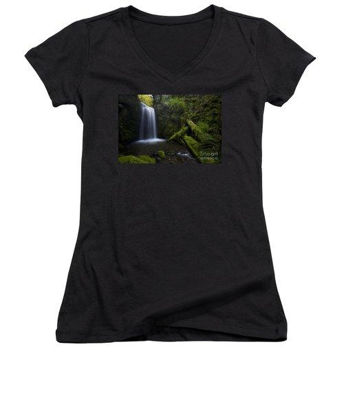 Whatcom Falls Serenity Women's V-Neck T-Shirt
