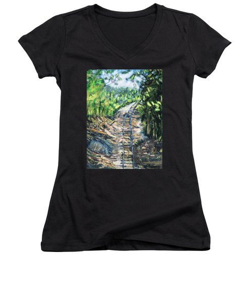 What's Around The Bend? Women's V-Neck (Athletic Fit)