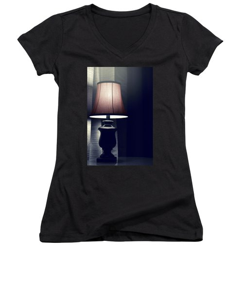 What's That Noise? Women's V-Neck T-Shirt (Junior Cut) by Trish Mistric