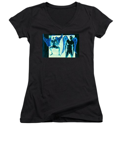 When Heaven And Earth Collide Series Women's V-Neck