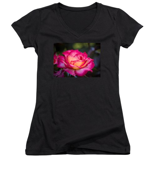Women's V-Neck T-Shirt (Junior Cut) featuring the photograph When It's Love by Patricia Babbitt