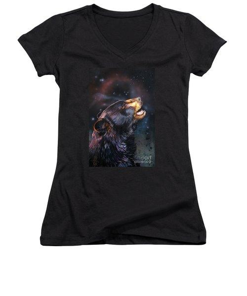 Where Do I Belong Now Women's V-Neck T-Shirt (Junior Cut) by J W Baker
