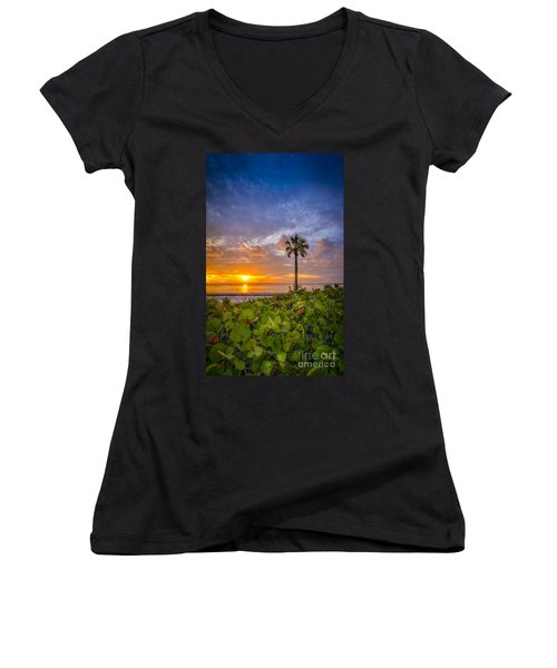 Where The Heart Is Women's V-Neck T-Shirt (Junior Cut) by Marvin Spates
