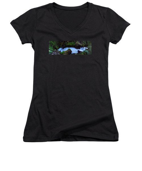 Women's V-Neck T-Shirt (Junior Cut) featuring the photograph Which Way by David Andersen