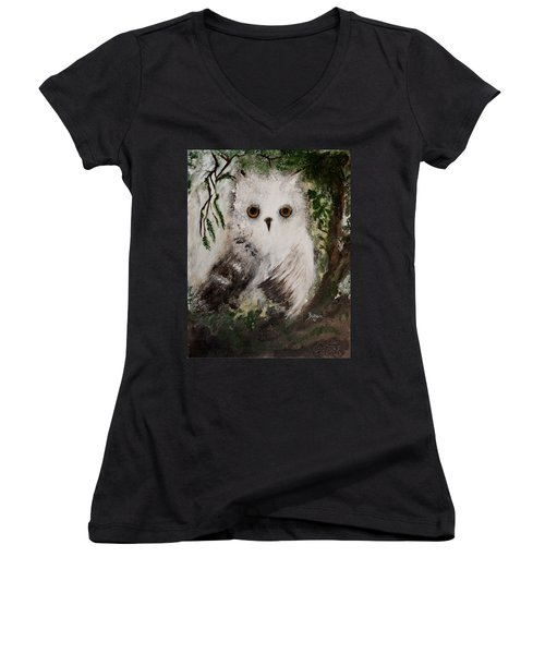 Whisper The Snowy Owl Women's V-Neck T-Shirt