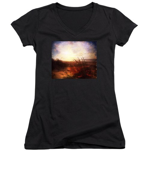 Whispering Shores By M.a Women's V-Neck