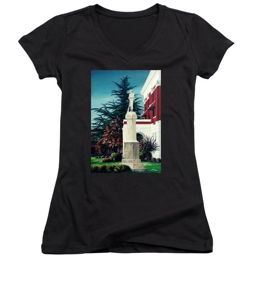 White County Courthouse - Civil War Memorial Women's V-Neck