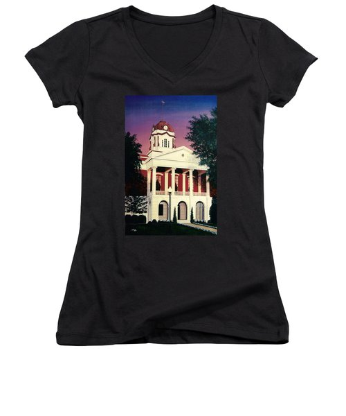 White County Courthouse Women's V-Neck