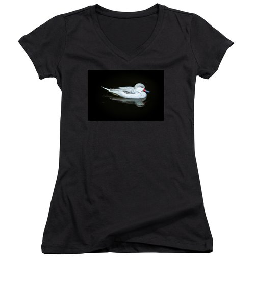 White Duck Women's V-Neck T-Shirt (Junior Cut)