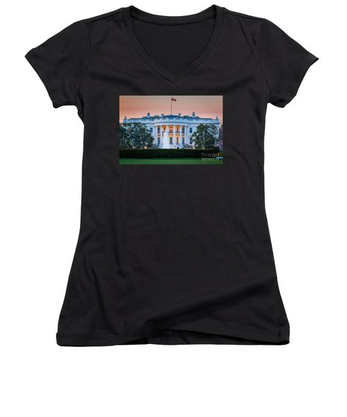 White House Women's V-Neck (Athletic Fit)