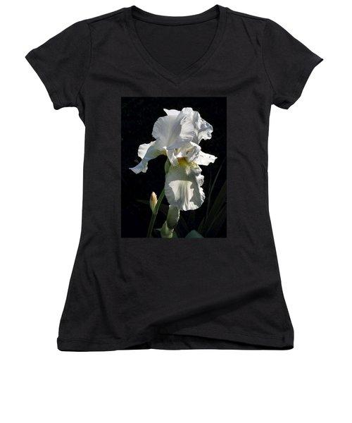 White Iris In The Morning Women's V-Neck