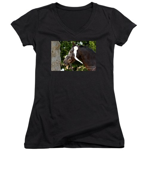 White Ribbon Women's V-Neck