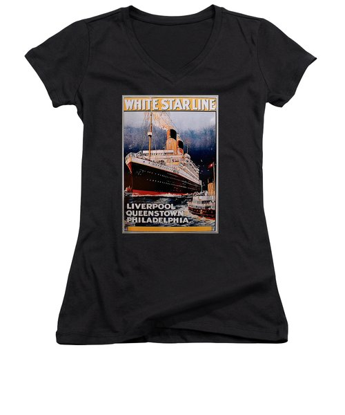 White Star Line Poster 1 Women's V-Neck