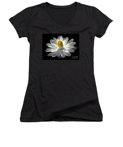 White Water Lily #2 Women's V-Neck (Athletic Fit)