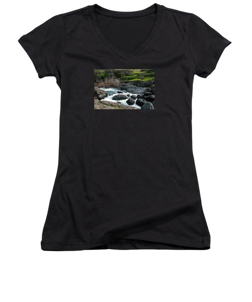 Whitewater At Bear Hole Women's V-Neck T-Shirt