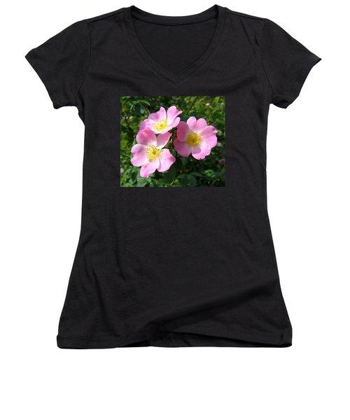 Wild Roses 1 Women's V-Neck