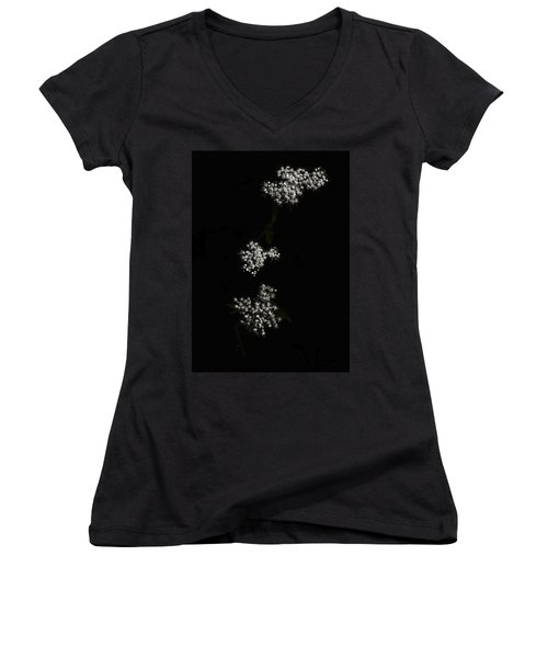 Wildflower In Black Women's V-Neck
