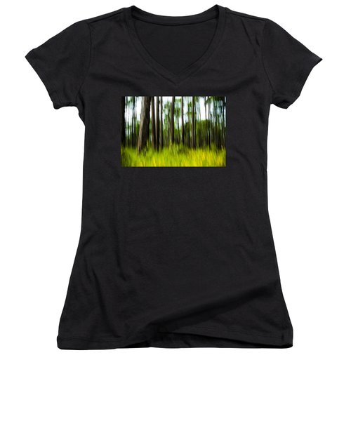 Wildflowers In The Forest Women's V-Neck