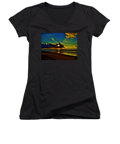 Wildwood Sunrise Women's V-Neck T-Shirt
