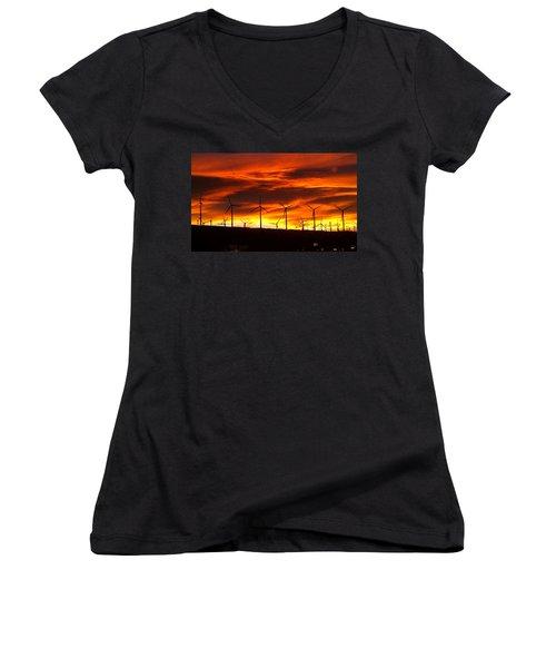 Shades Of Light  Women's V-Neck T-Shirt