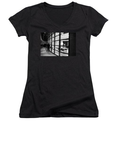 Window Shopping In The Dark Women's V-Neck