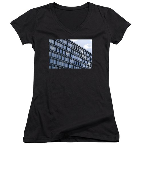 Windows In Copenhagen Women's V-Neck T-Shirt (Junior Cut) by Victoria Harrington