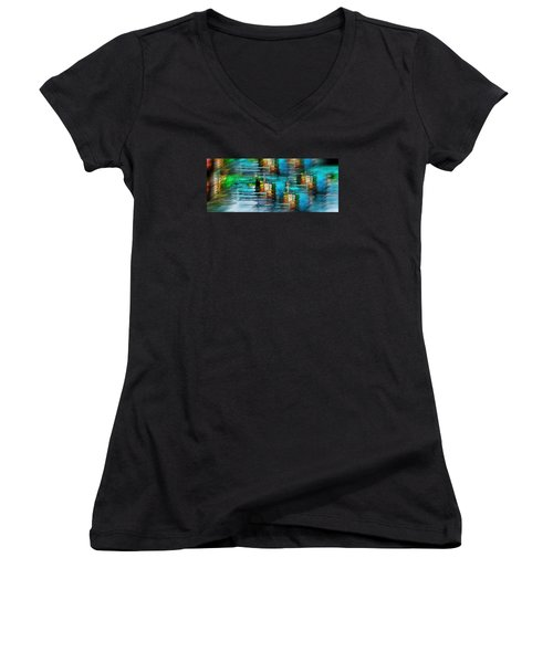 Windows Into The Blue Women's V-Neck (Athletic Fit)