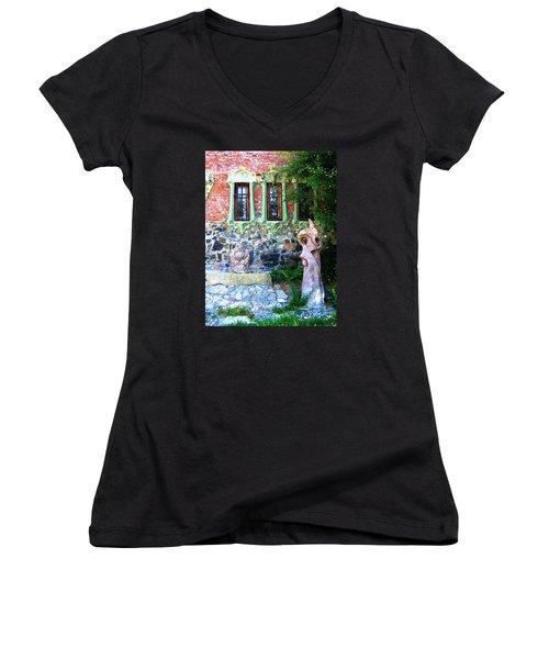 Windows Women's V-Neck T-Shirt (Junior Cut) by Oleg Zavarzin