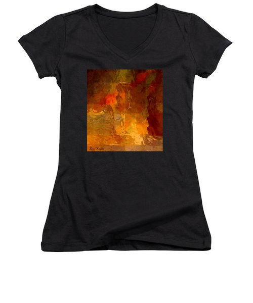 Wine By Candlelight Women's V-Neck T-Shirt