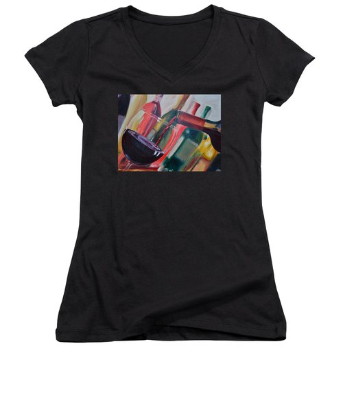 Wine Pour IIi Women's V-Neck T-Shirt
