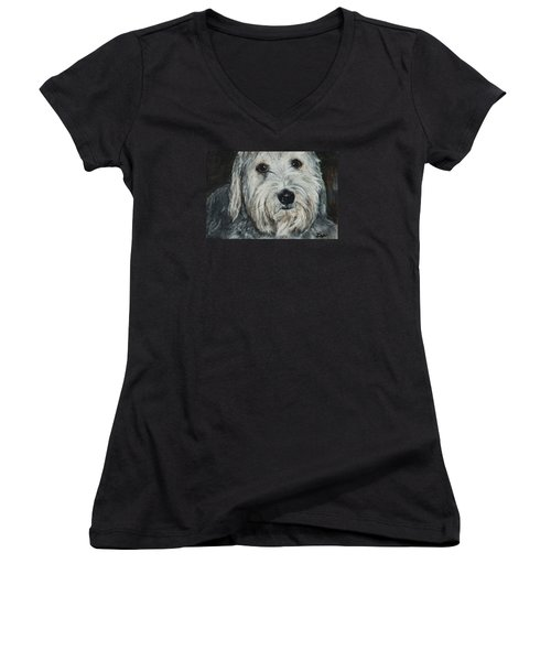 Winston Women's V-Neck T-Shirt (Junior Cut) by Lee Beuther