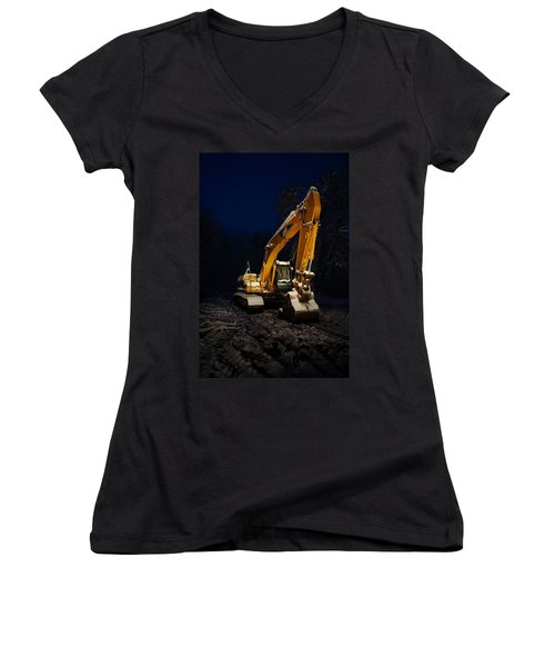 Winter Cat Women's V-Neck T-Shirt