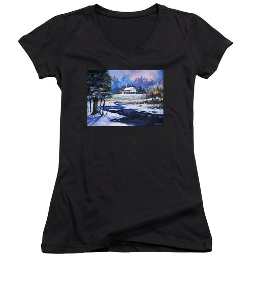 Winter Solitude Women's V-Neck (Athletic Fit)