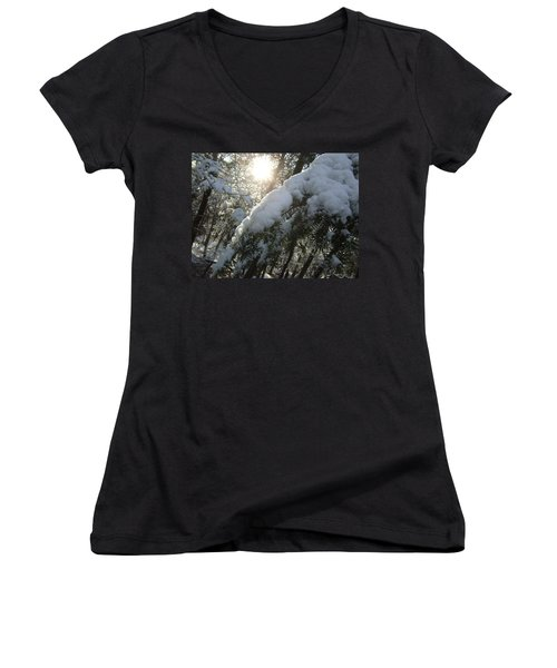 Winter's Paw Women's V-Neck (Athletic Fit)
