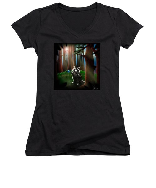 Wishing Upon A Dream Women's V-Neck T-Shirt (Junior Cut) by Alessandro Della Pietra
