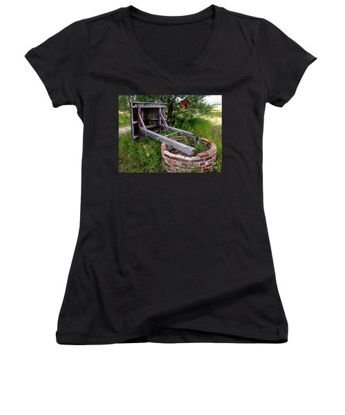 Wistful Well Women's V-Neck (Athletic Fit)