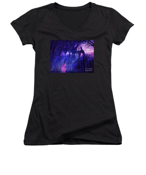 Wolf And Magic Women's V-Neck