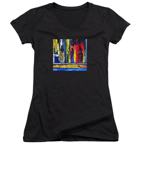 Women In Ceremony Women's V-Neck (Athletic Fit)