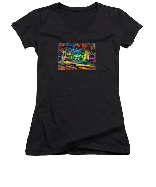 Woodland Gem Women's V-Neck T-Shirt