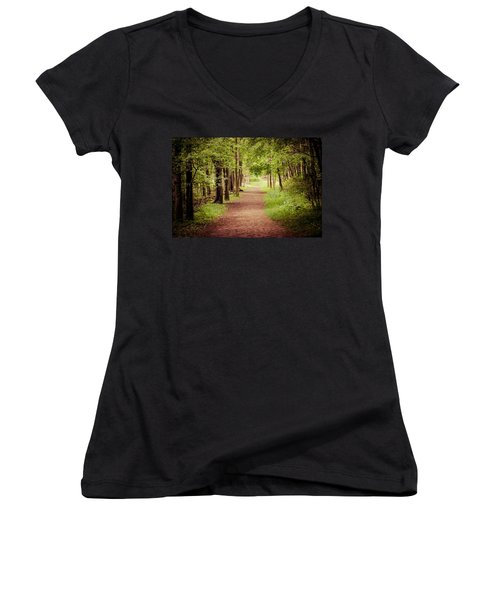 Woodland Trail Women's V-Neck T-Shirt