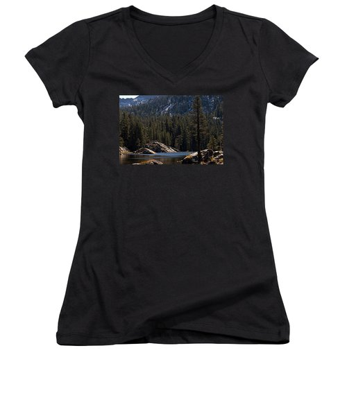 Woods Lake Women's V-Neck (Athletic Fit)