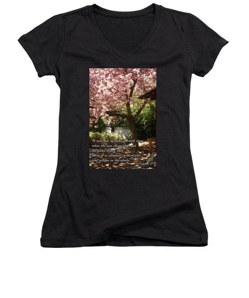 Words Of The Seasons Women's V-Neck T-Shirt