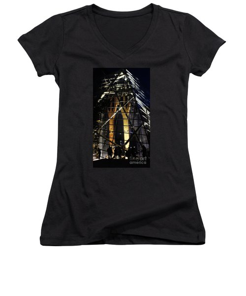 World Trade Center Museum At Night Women's V-Neck (Athletic Fit)
